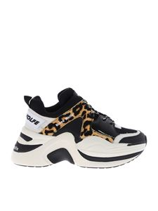 Naked Wolfe - Black Track sneakers with animalier motif