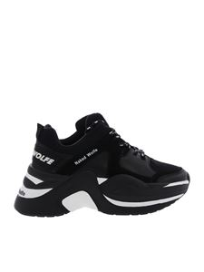 Naked Wolfe - Black leather Track sneakers