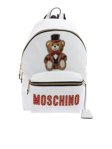 Moschino - Teddy Circus backpack in white