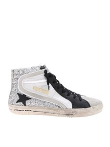 Golden Goose Deluxe Brand - Slide sneakers in gray and silver