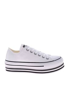 Converse - White Ctas Platform Layer Ox sneakers