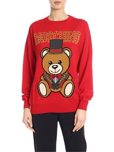 Moschino - Pullover Teddy Circus rosso