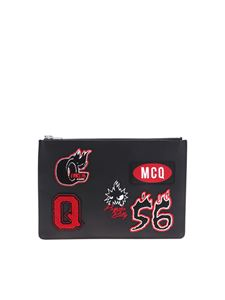 McQ Alexander Mcqueen - McQ Varsity Badge clutch bag in black