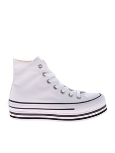 Converse - White Ctas Platfrom Layer Hight sneakers