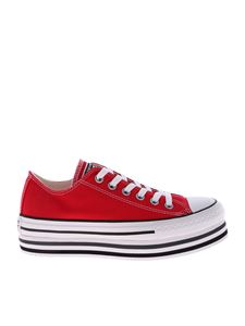 Converse - Red Ctas Platform Layer Ox sneakers