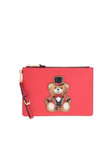 Moschino - Teddy Circus clutch bag in red