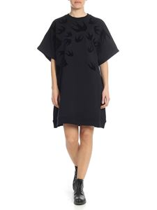 McQ Alexander Mcqueen - Swallow fleece dress in black
