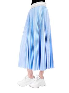 Eleventy - Pleated skirt in light blue