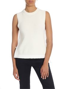 Helmut Lang - Knitted top in cream white