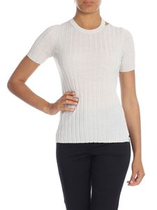 Helmut Lang - Melange wool sweater in ivory white