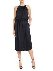 Helmut Lang - Satin dress in black with drawstring