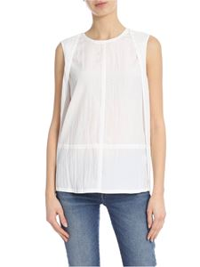 Helmut Lang - White top with deep neckline