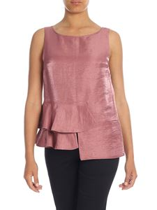 Dondup - Shiny top in antique pink