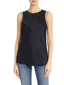 Helmut Lang - Satin top in black with laces