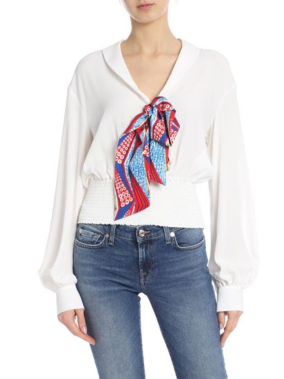 Stella Jean - Crepe blouse with multicolor bow