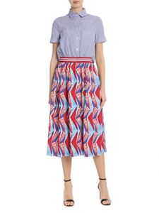 Stella Jean - Striped chemisier with printed skirt