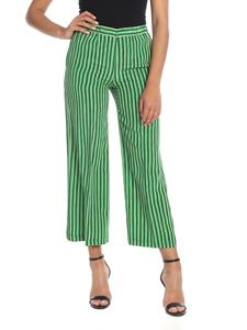 Aspesi - Wide trousers in green with stripes
