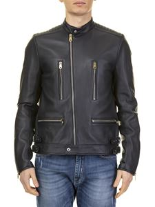 Paul Smith - Jacket in blue real leather