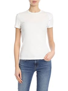 Helmut Lang - Stretch T-shirt with laces in white