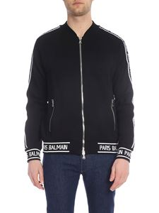 Balmain - Black sweatshirt with Balmain Paris embroidery