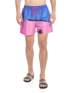 Paul Smith Swimwear - Boxer mare indaco con stampa LA Shop