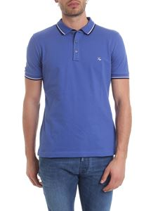 Fay - Blue polo with striped edges
