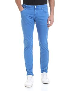 Jacob Cohën - 5-pocket trousers in turquoise