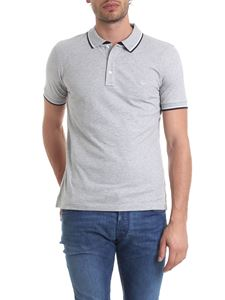 Fay - Polo in melange grey pure cotton