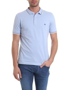 Fay - Polo in light blue pure cotton