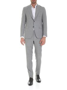 Canali - Single-breasted suit in melange gray wool