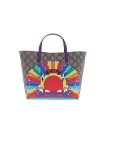 Gucci - Beige bag with multicolor print