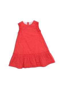 Moncler Jr - Neon pink cotton sleeveless dress
