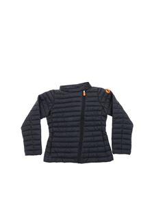 Save the duck - Black Giga quilted jacket