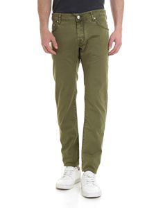 Jacob Cohën - Trousers in delavé army green