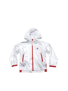 Moncler Jr - Metallic silver hooded sweatshirt