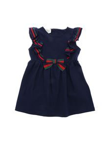 Gucci - Cotton piqué dress with bow