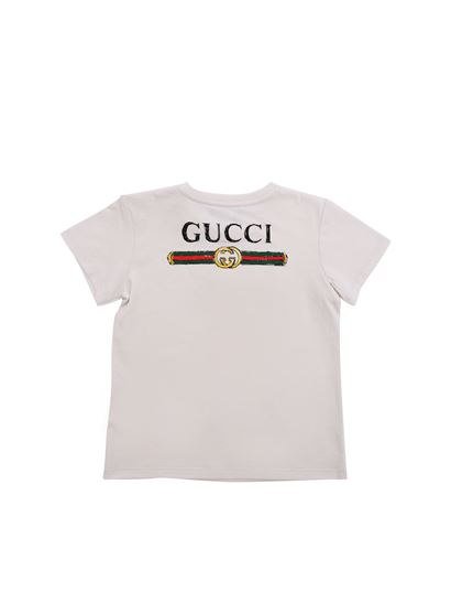 0349caf74444 Gucci Spring Summer 2019 white t-shirt with kingsnake print - 548034 ...