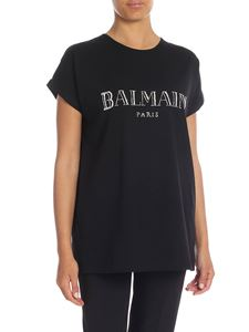 Balmain - Black oversize T-shirt with Balmain logo