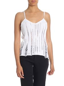 Balmain - White distressed top