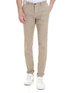 Incotex - Slim-fit trousers in cotton and beige linen