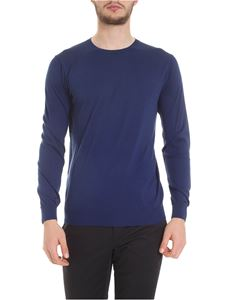 Kangra Cashmere - Silk and cotton pullover in blue
