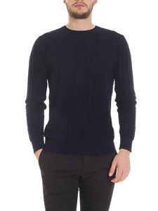 Kangra Cashmere - Cotton pullover in blue