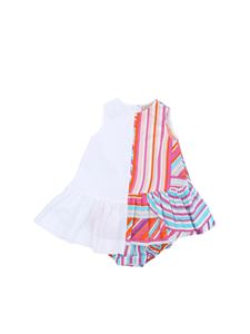 EMILIO PUCCI - White dress with contrasting pattern