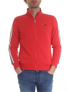 Fila - Red sweatshirt with Fila embroidery