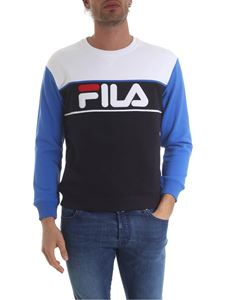 Fila - White and blue sweatshirt with logo