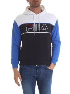 Fila - White, blue and bluette hooded sweatshirt