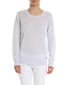Fay - Lamé sweater in light grey