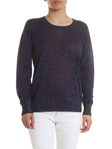 Fay - Lamé sweater in dark blue