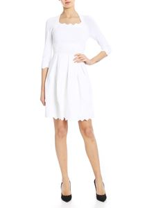 Blumarine - Decorated knit dress in white