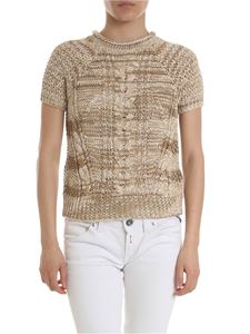 Lorena Antoniazzi - Crop sweater in melange beige